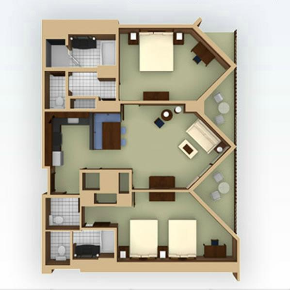 aulani 2bedroom layout