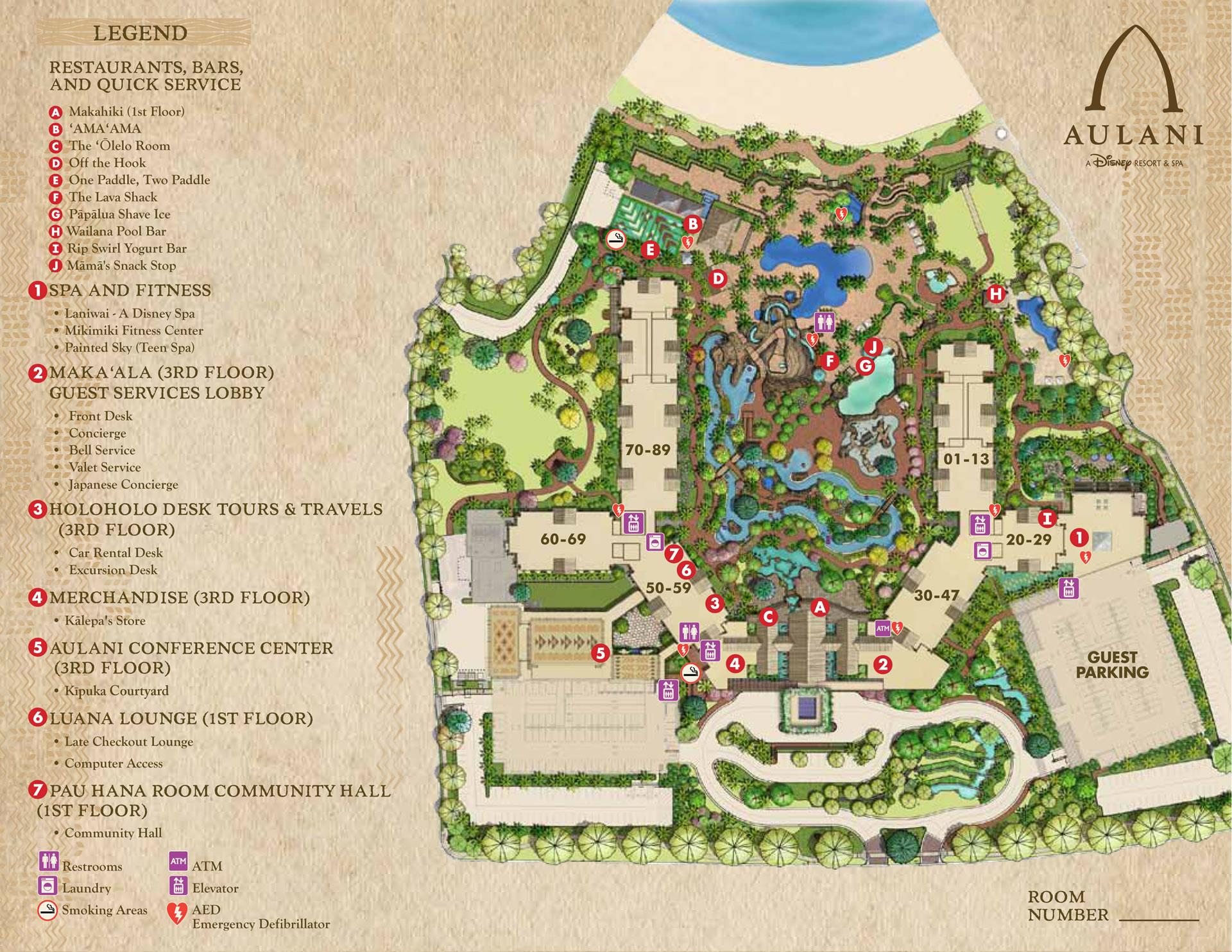 aulani resort map-1