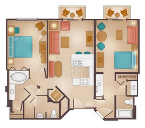 beach-club-villas 2-bedroom layout