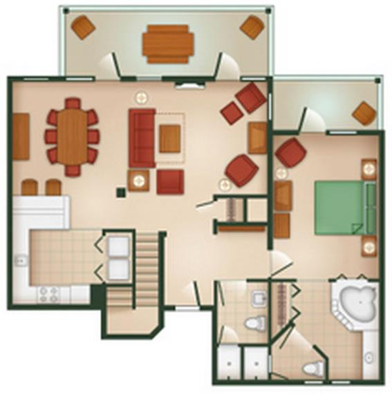 hilton-head-resort grand-villa first-floor layout