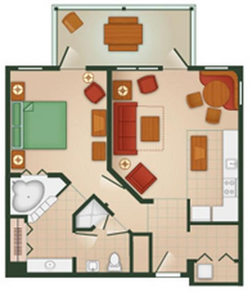 hilton-head-resort one-bedroom layout