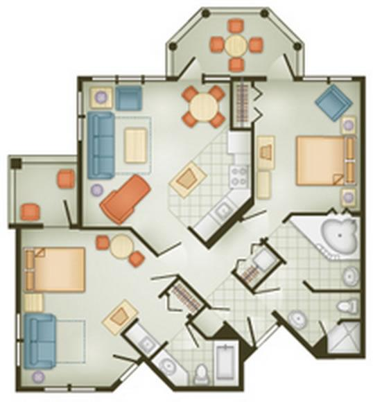 vero-beach-resort two-bedroom layout