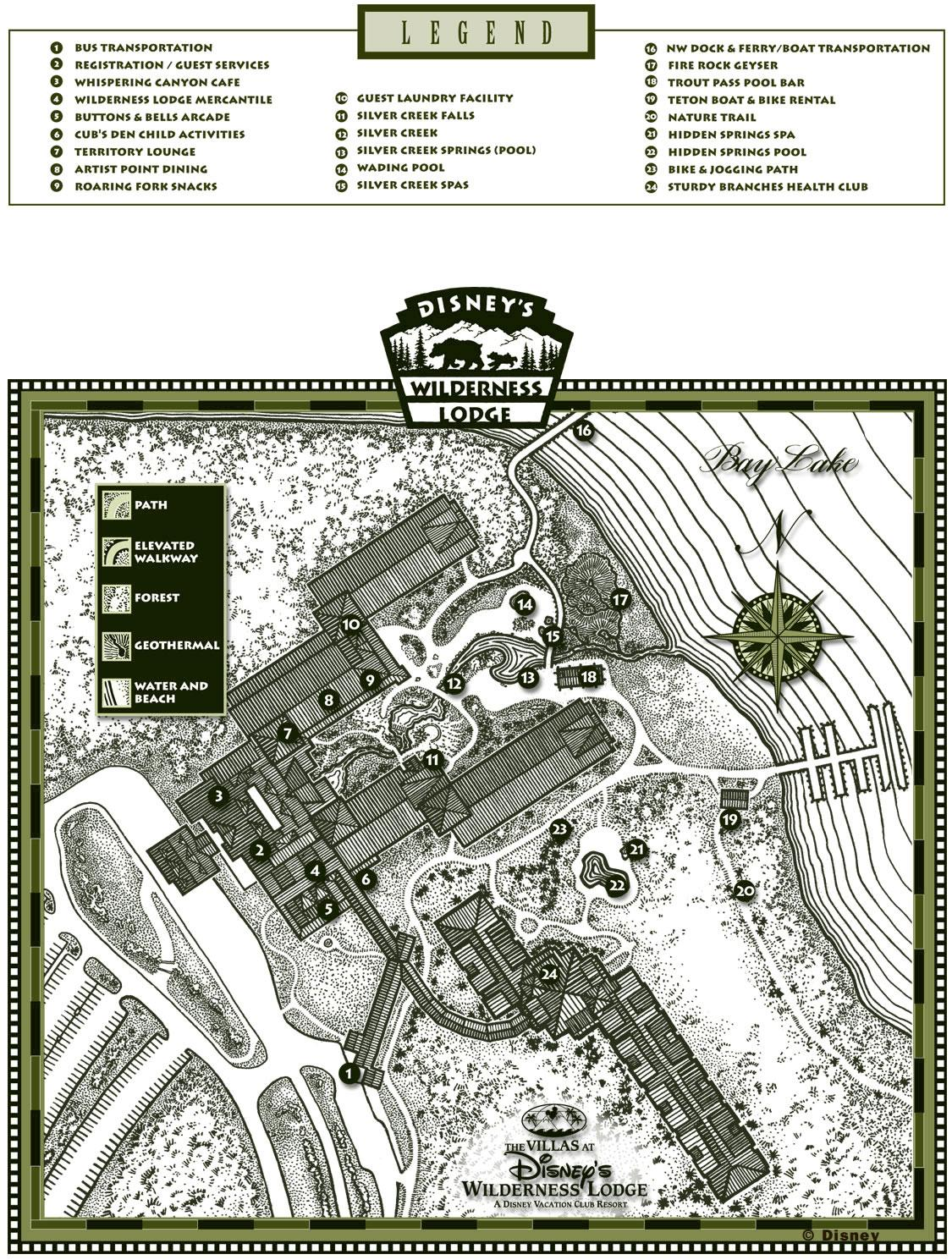 the villas at wilderness lodge resort map1