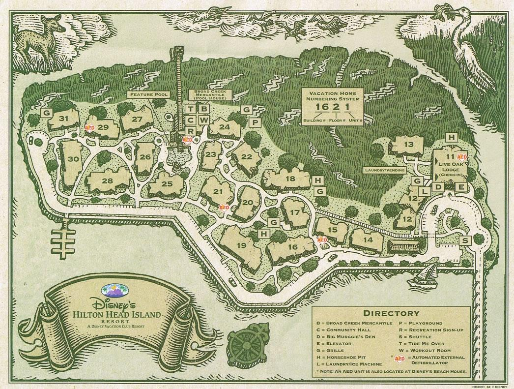 Disneys Hilton Head Resort Map