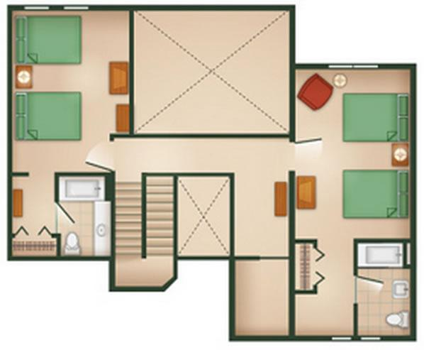 hilton-head-resort grand-villa second-floor layout