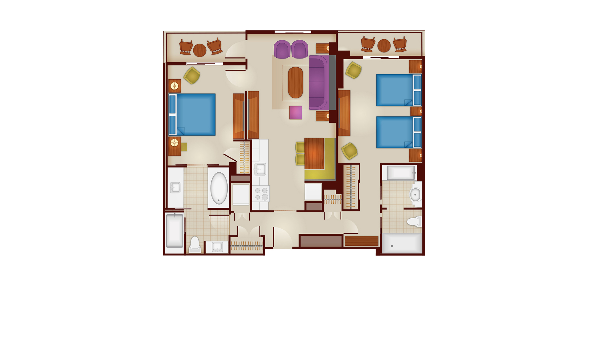 riviera 2-bedroom layout