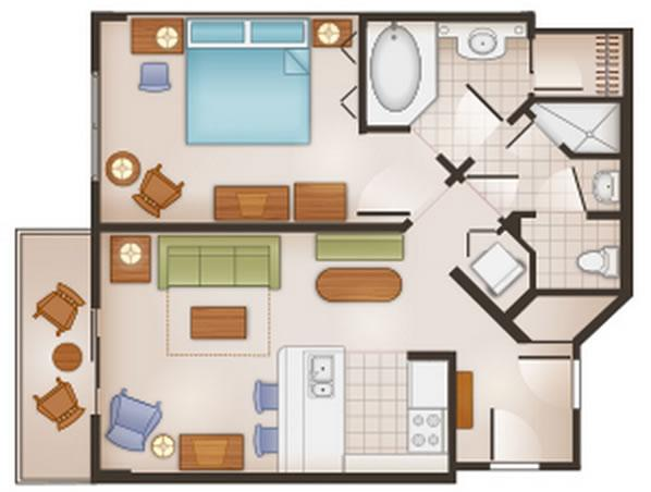 saratoga-springs-resort one-bedroom layout