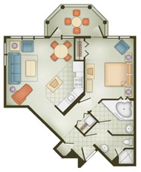 vero-beach-resort one-bedroom layout